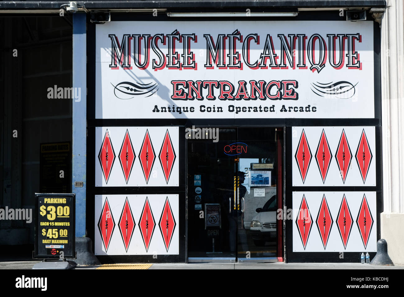 The Musee Mecanique museum of arcade machines in San Francisco, California, USA. - Stock Image