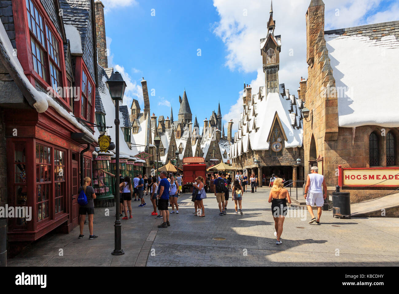 Harry Potter part of Universal Studios theme park, Orlando, Florida, USA - Stock Image