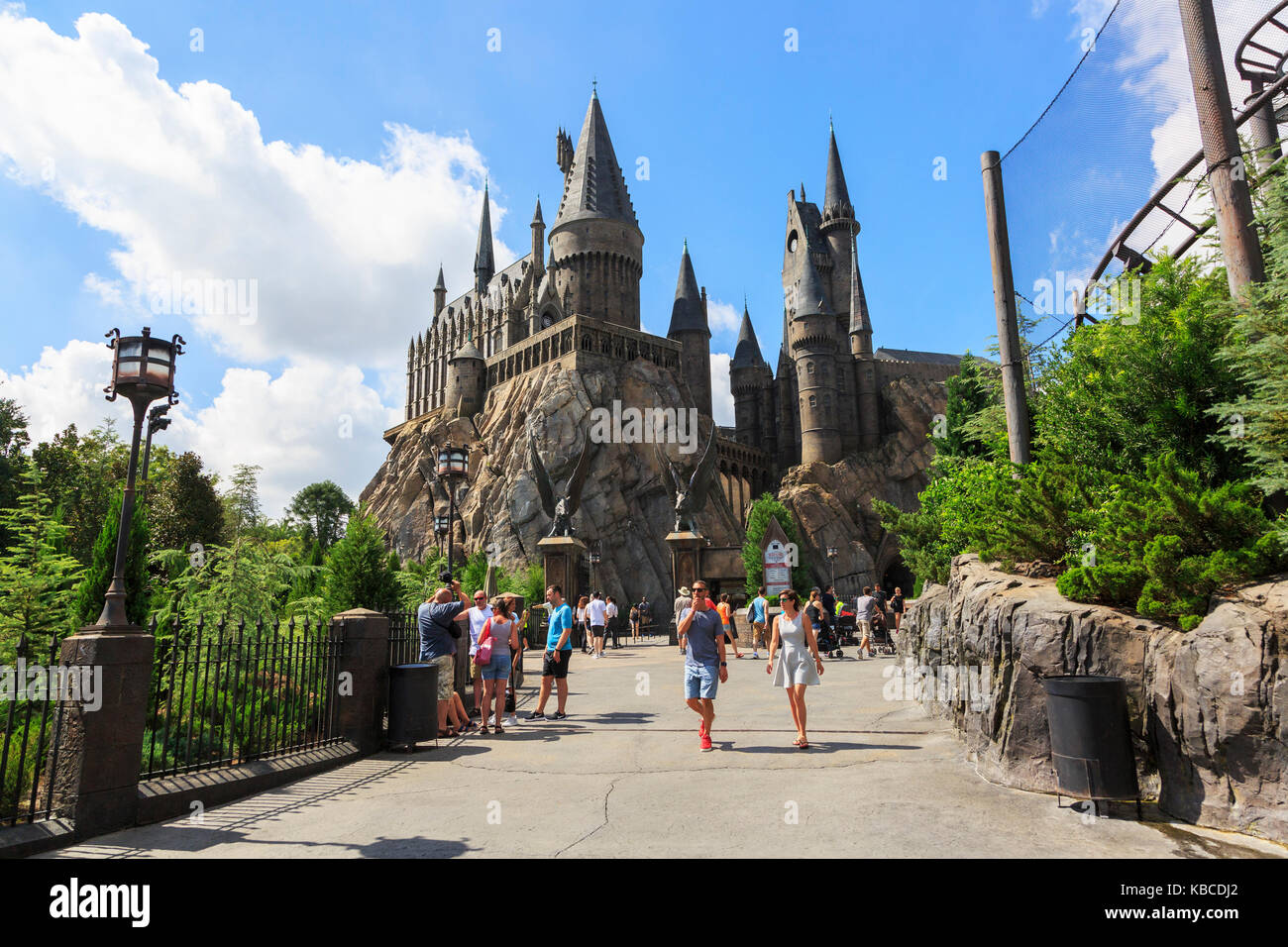 Harry Potter part of Universal Studios theme park, Orlando, Florida, USA - Stock Image