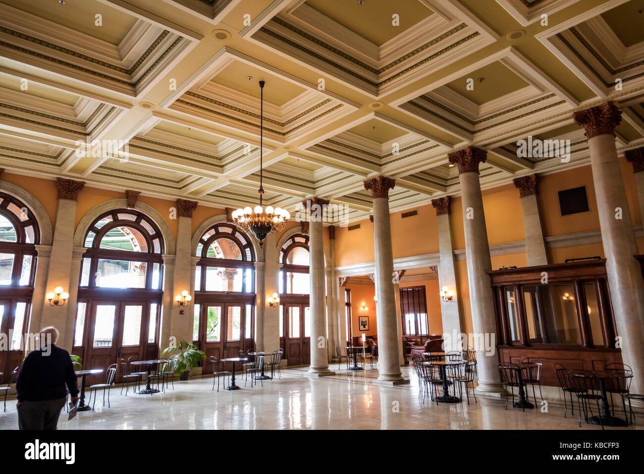 Richmond Virginia Main Street Station historic railway train station interior - Stock Image