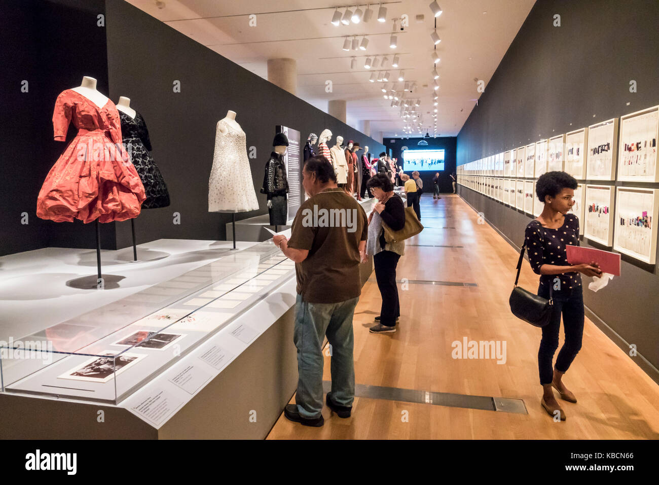 Richmond Virginia Virginia Museum of Fine Arts VMFA special exhibition Yves Saint Laurent fashion French designer - Stock Image