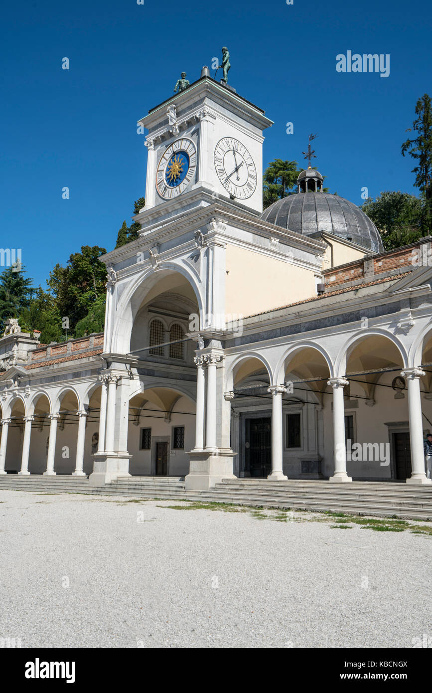 The Loggia of St. John with the Clock Tower in Piazza Libertà in Udine, Italy - Stock Image