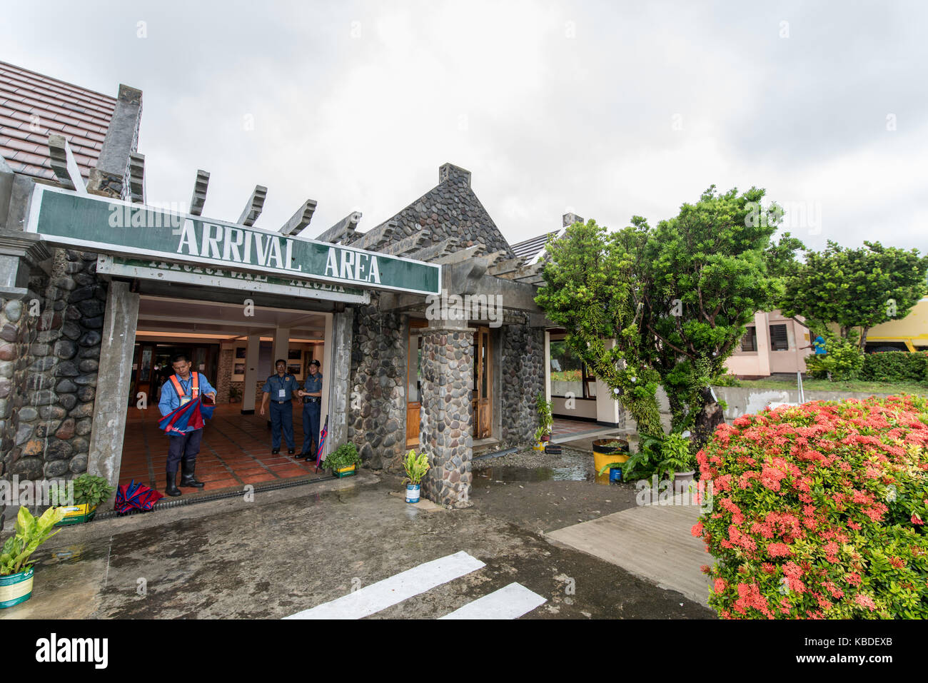 Sep 20,2017 Arrival area at Basco Airport, Batanes, Philippines - Stock Image