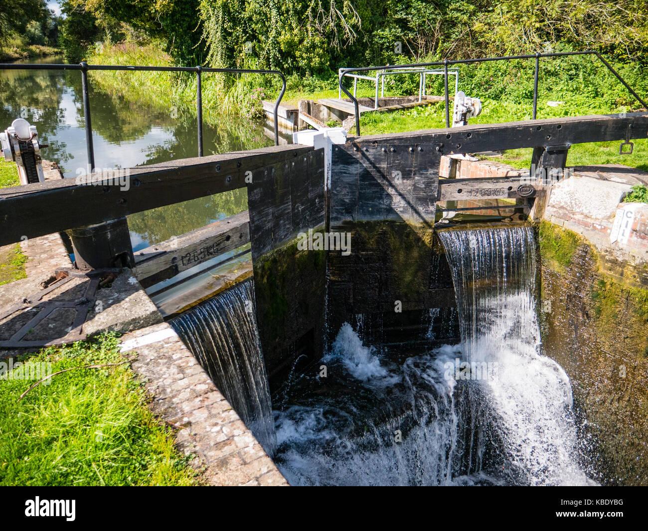 Garston Lock, River Kennet, Thale, Berkshire, England - Stock Image