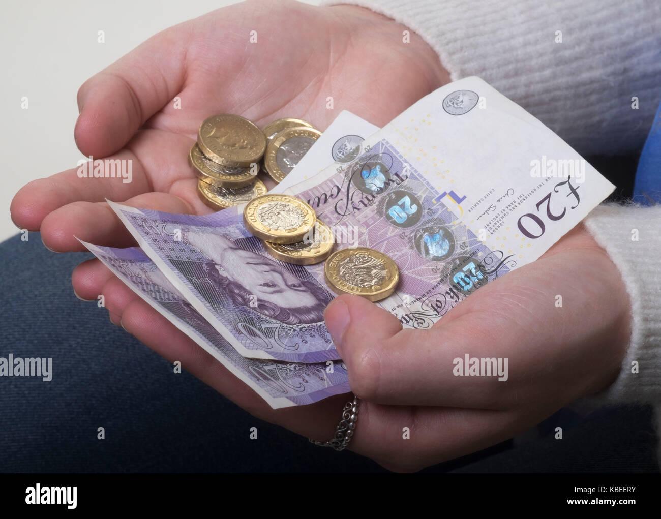 Money worries Stock Photo