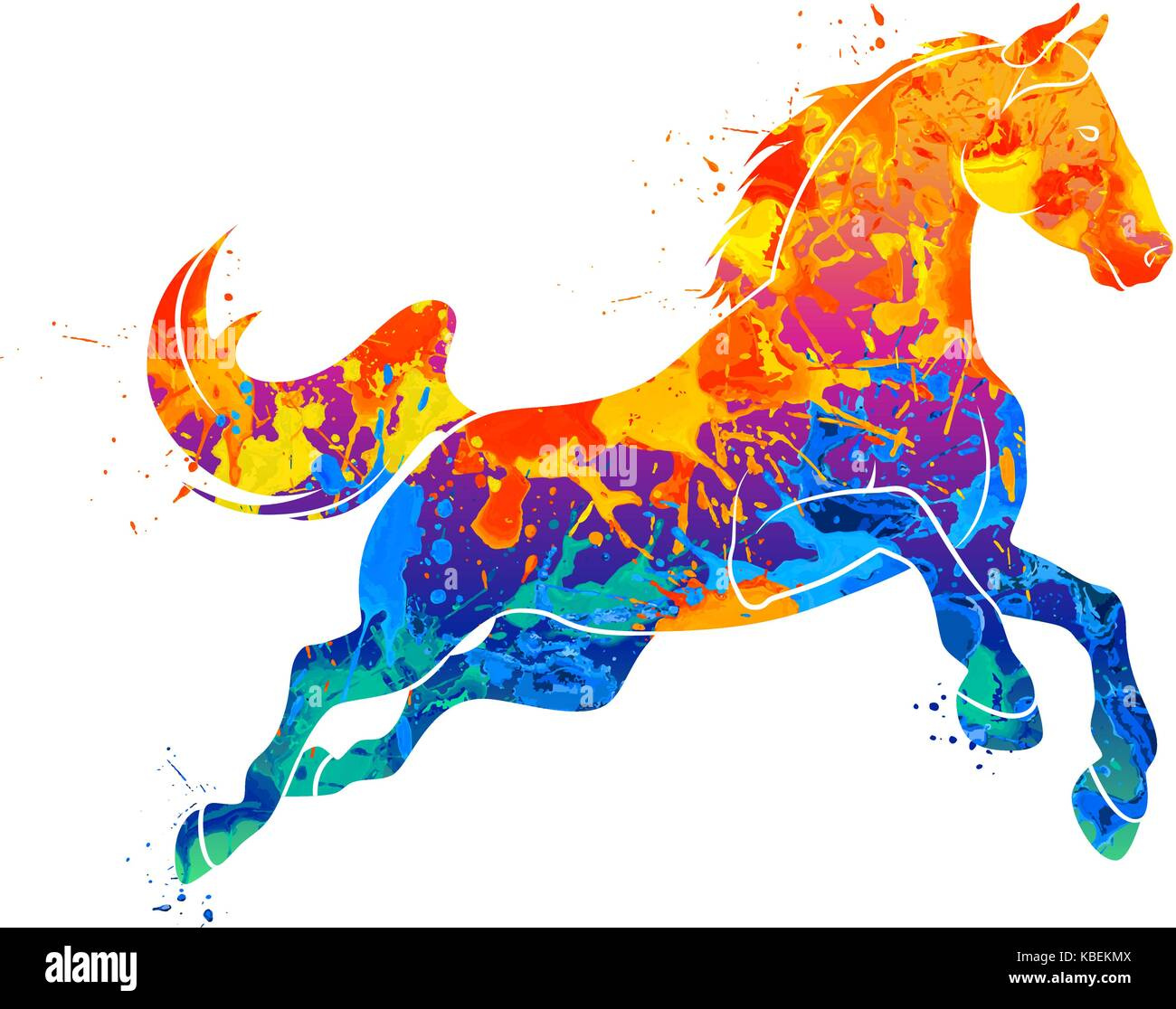Galloping Horse Abstract Stock Vector Image Art Alamy