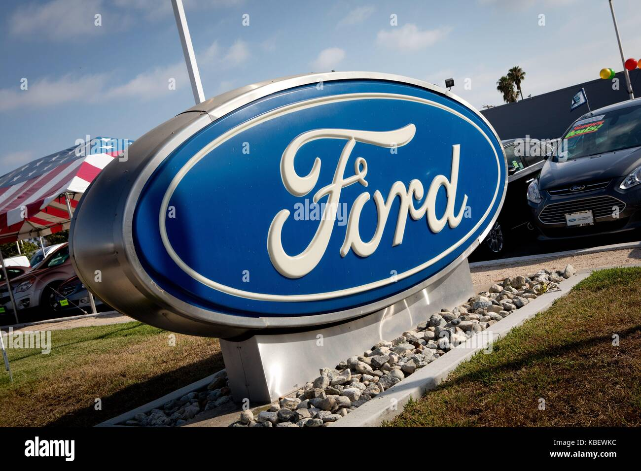 San Diego Ford Dealers >> Ford Logo At Mossy Ford Car Dealer At Mission Bay Drive In San Diego