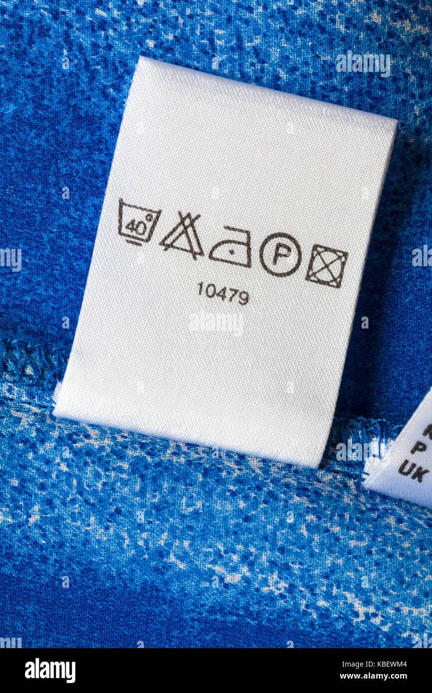 Symbol Washing Care Instructions Stock Photos Symbol Washing