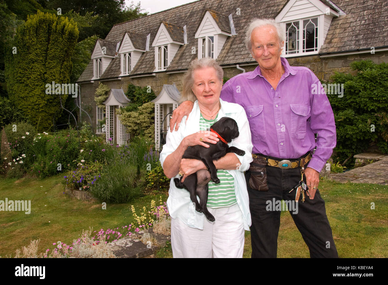 Lord & Lady Christopher Thynne at their home, Britmore House in Wiltshire. - Stock Image
