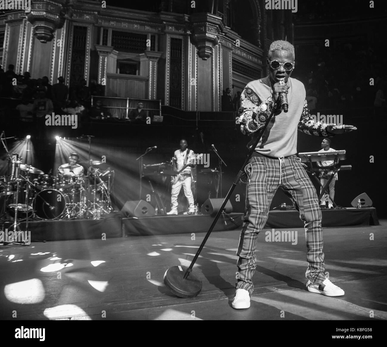 London, United Kingdom. September 29, 2017. Wizkid performs live on stage at Royal Albert Hall. Michael Tubi / Alamy - Stock Image
