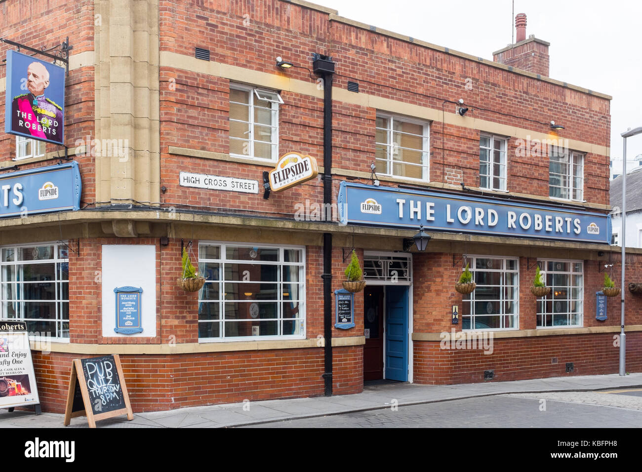 The Lord Roberts pub and bar in Broad Street, Nottingham - Stock Image