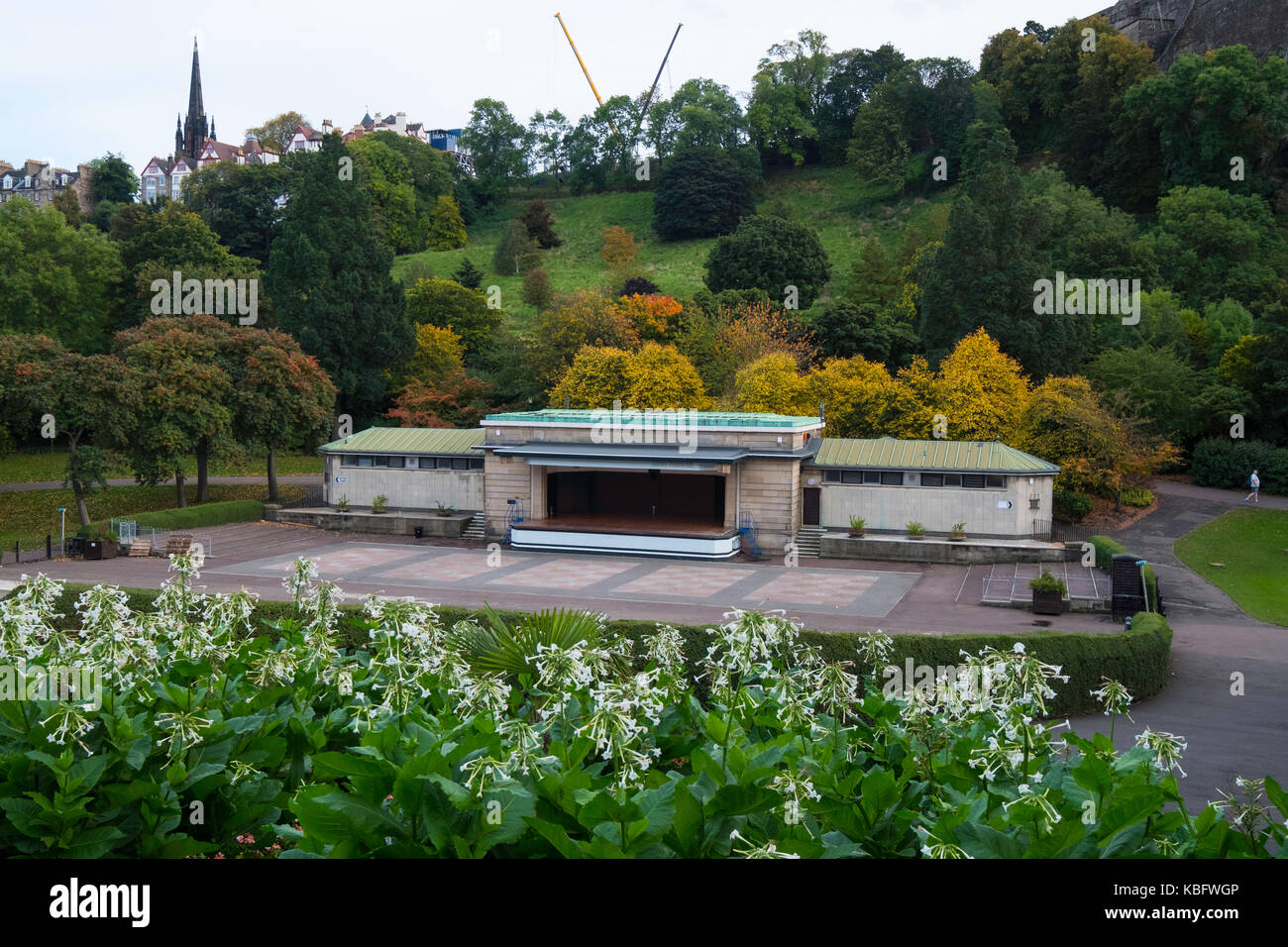 View of old Ross Theatre or bandstand in Prices Street Gardens. A new bandstand is being planned to replace it, - Stock Image