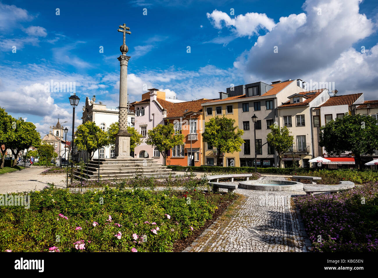 The city of Braga offers beautiful gardens, and promenades. The gardeners of the city are well considered among - Stock Image