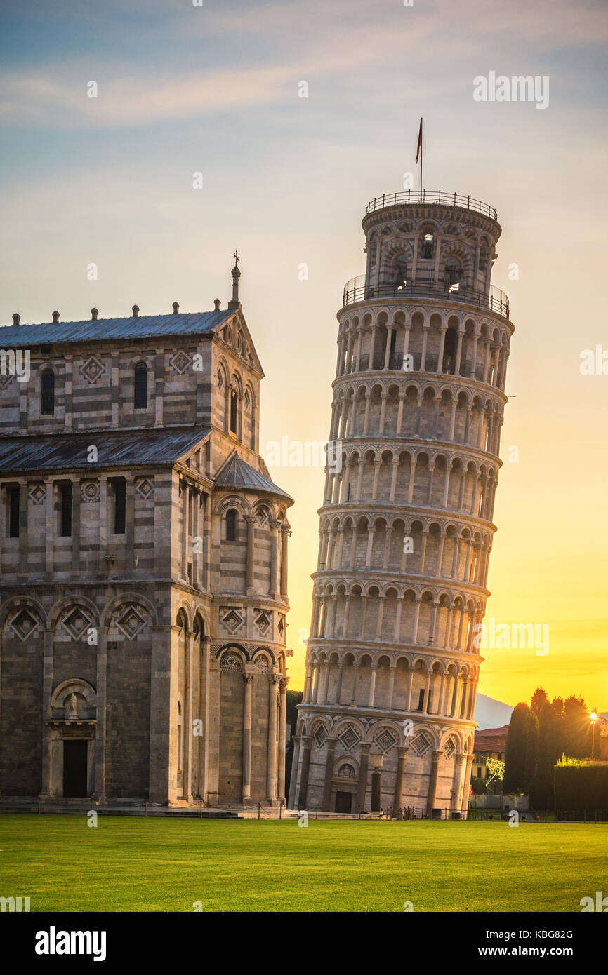 Pisa Cathedral first light - Stock Image