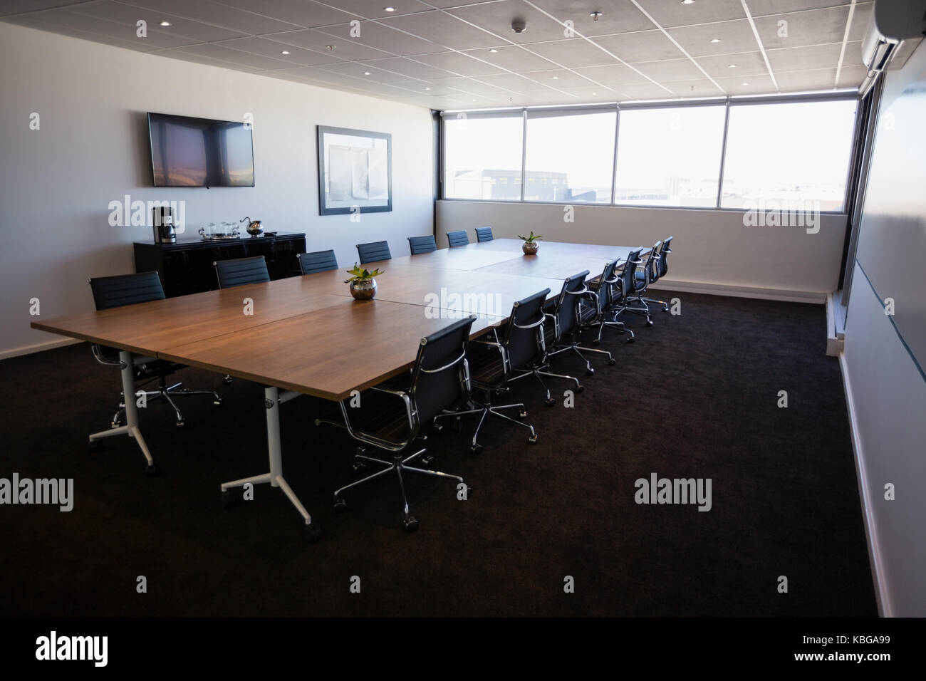 modern interior office stock. Interior Of Empty Modern Meeting Room At Creative Office Stock D