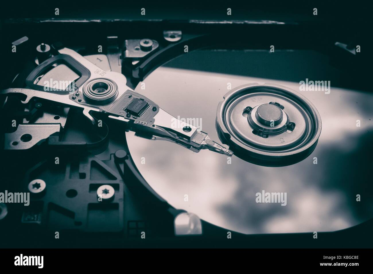 Computer Hard Drive on Display - Stock Image