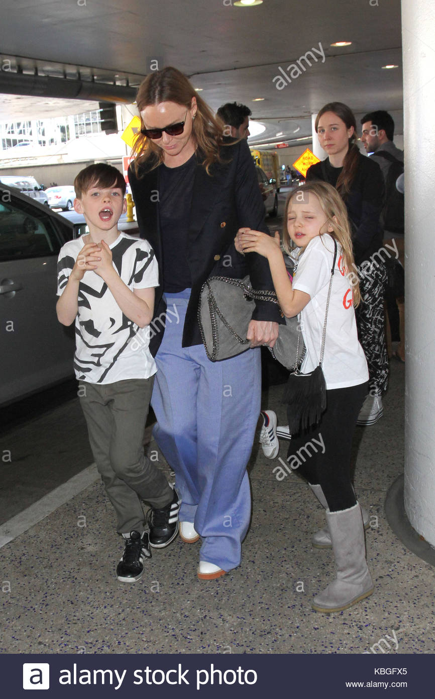 Stella McCartney Spotted With Her Four Adorable Children As They Arrive In Los Angeles The Daughter Of Beatles Icon Paul