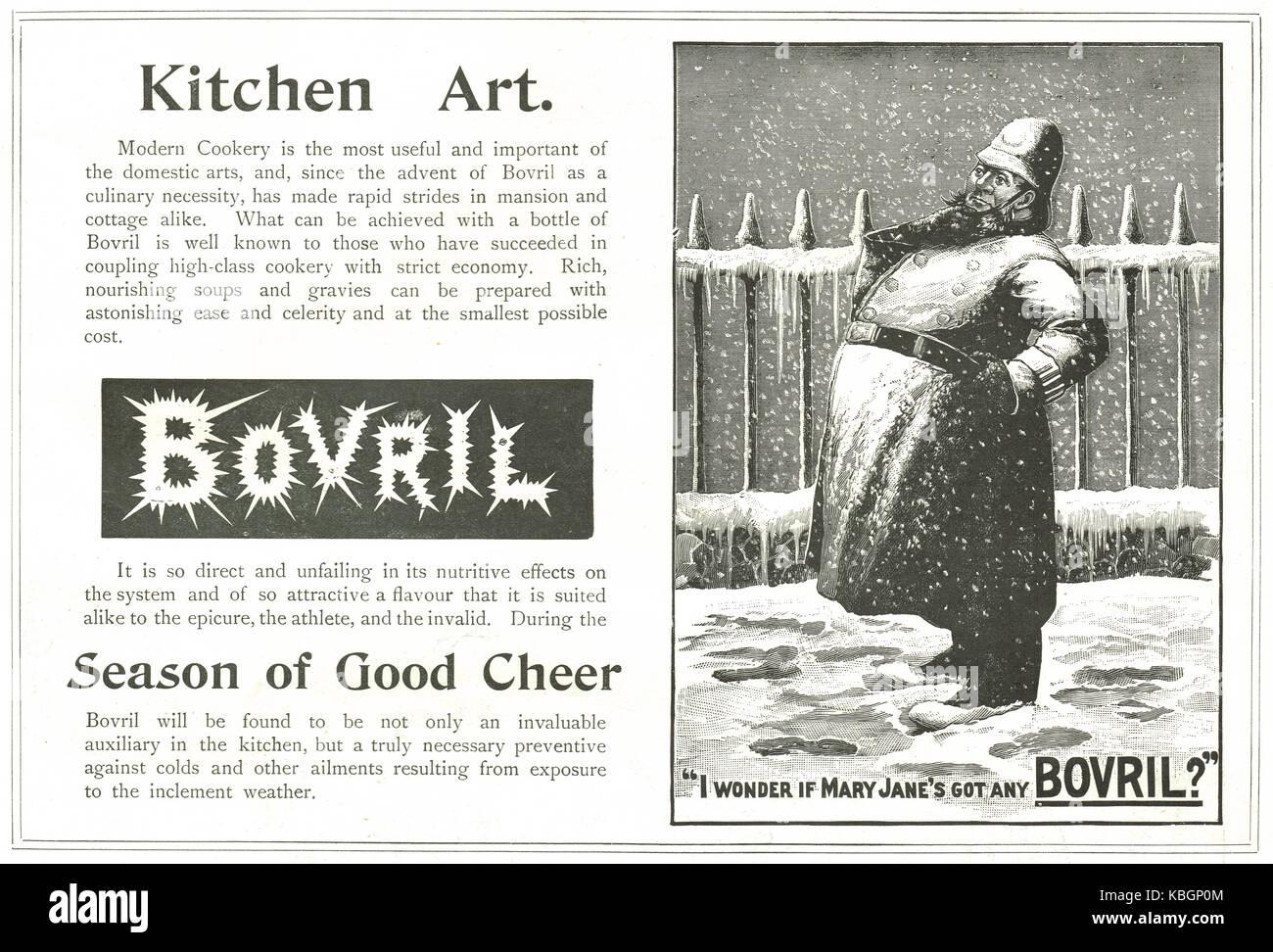 Christmas 1899 Bovril advert - Stock Image