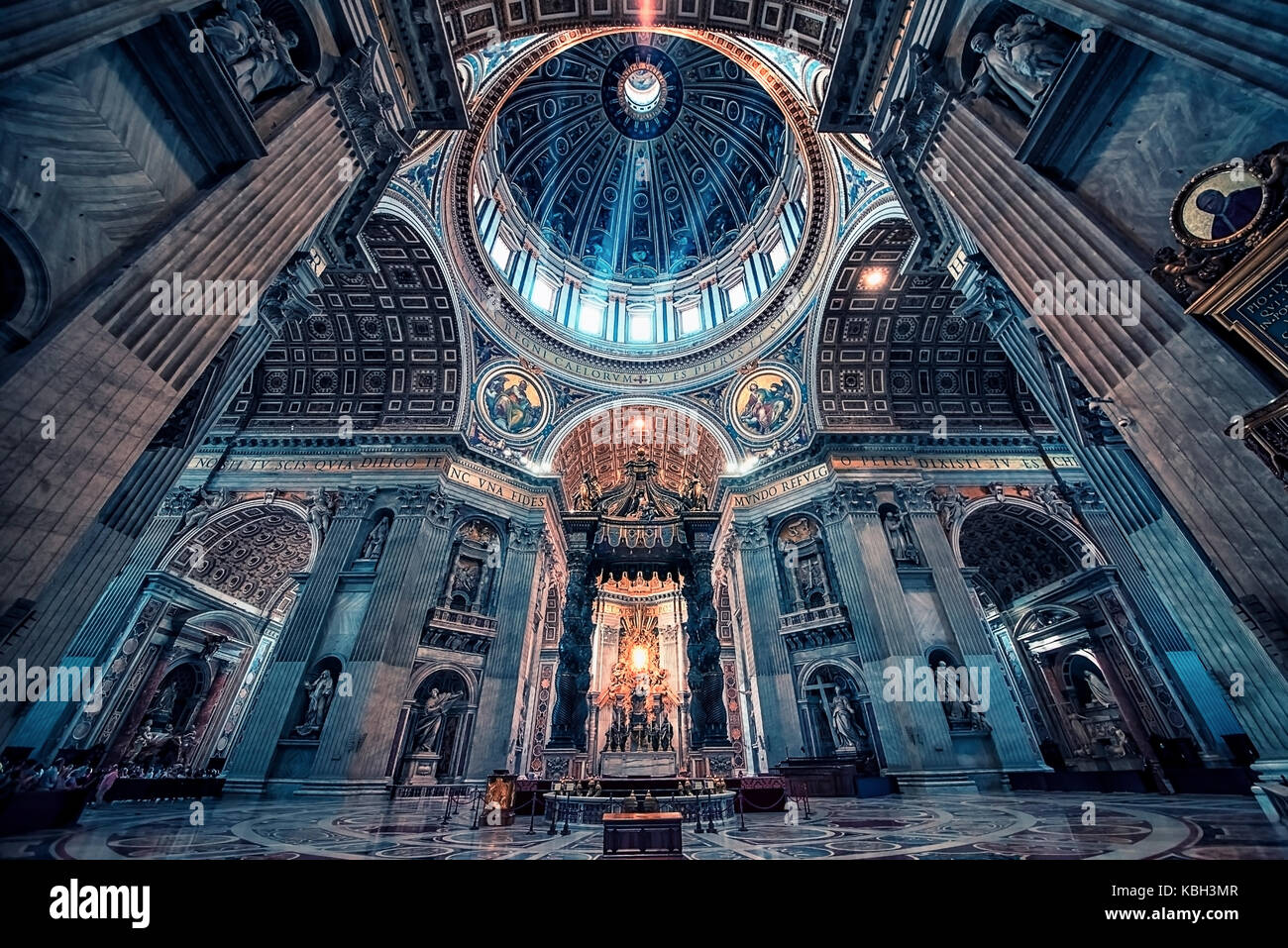 St Peter's basilica in Rome Stock Photo