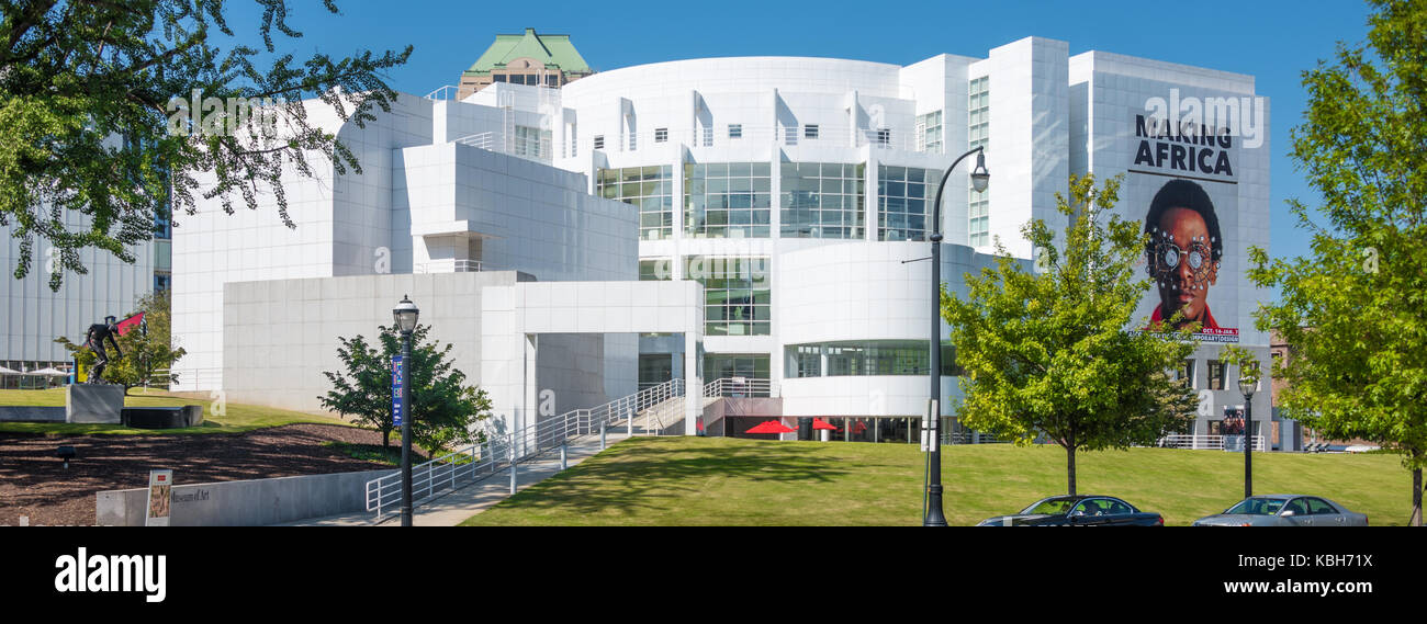 The High Museum of Art on Peachtree Street in Atlanta, Georgia is the leading art museum in the Southeastern United - Stock Image