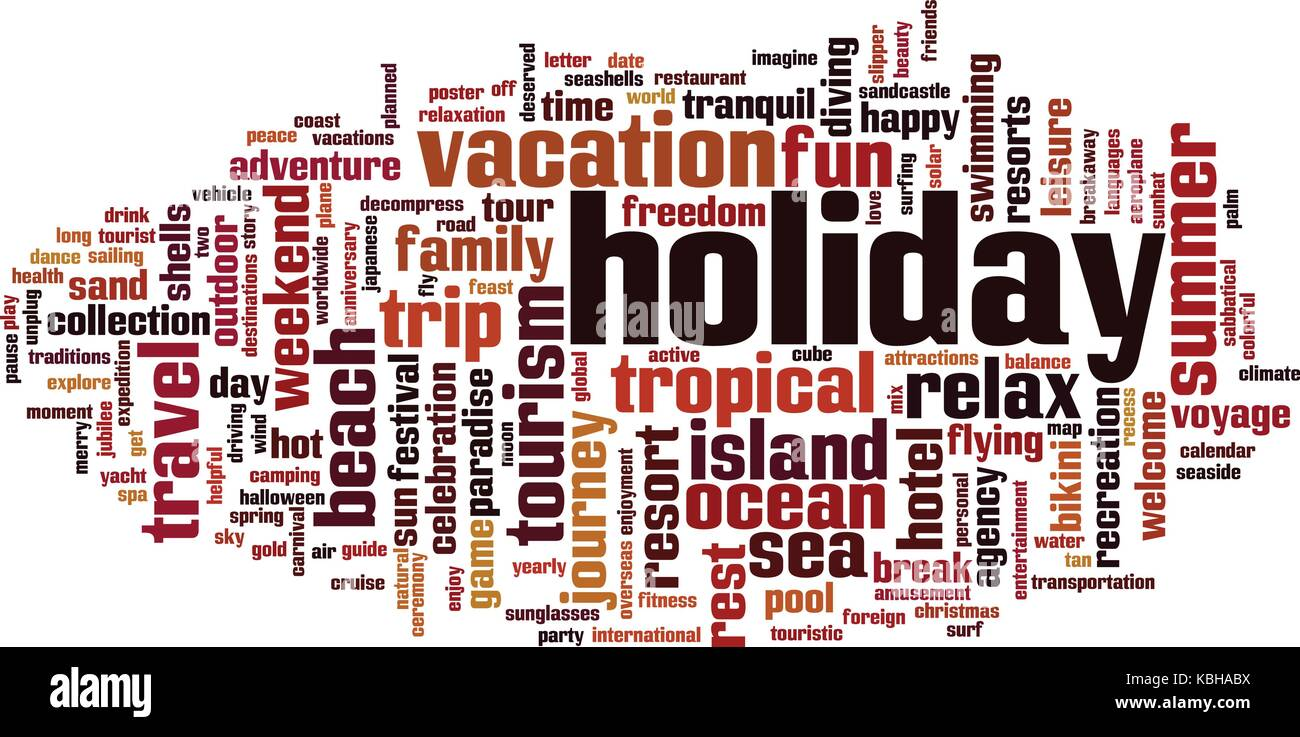 Holiday word cloud concept. Vector illustration - Stock Vector