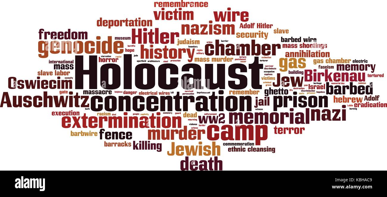 Holocaust cloud concept. Vector illustration Stock Vector
