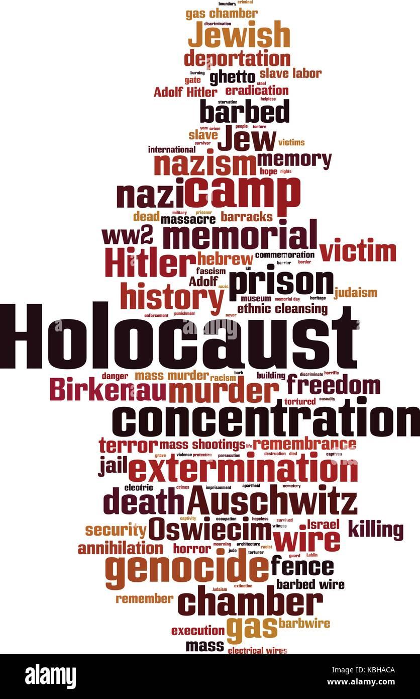 Holocaust cloud concept. Vector illustration - Stock Vector