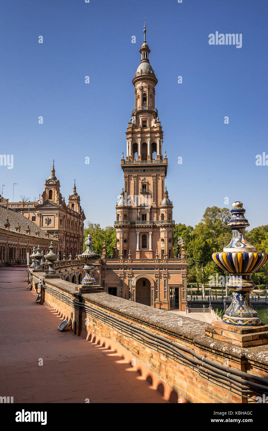 Plaza de Espana in Seville Spain - Stock Image