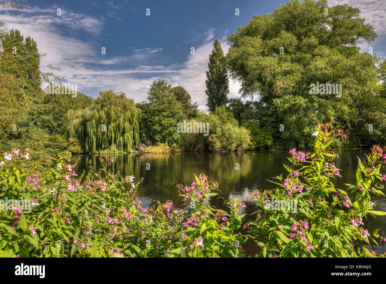 This photograph was taken during a walk along the river Trent in Nottinghamshire. You can't beat an afternoon - Stock Image