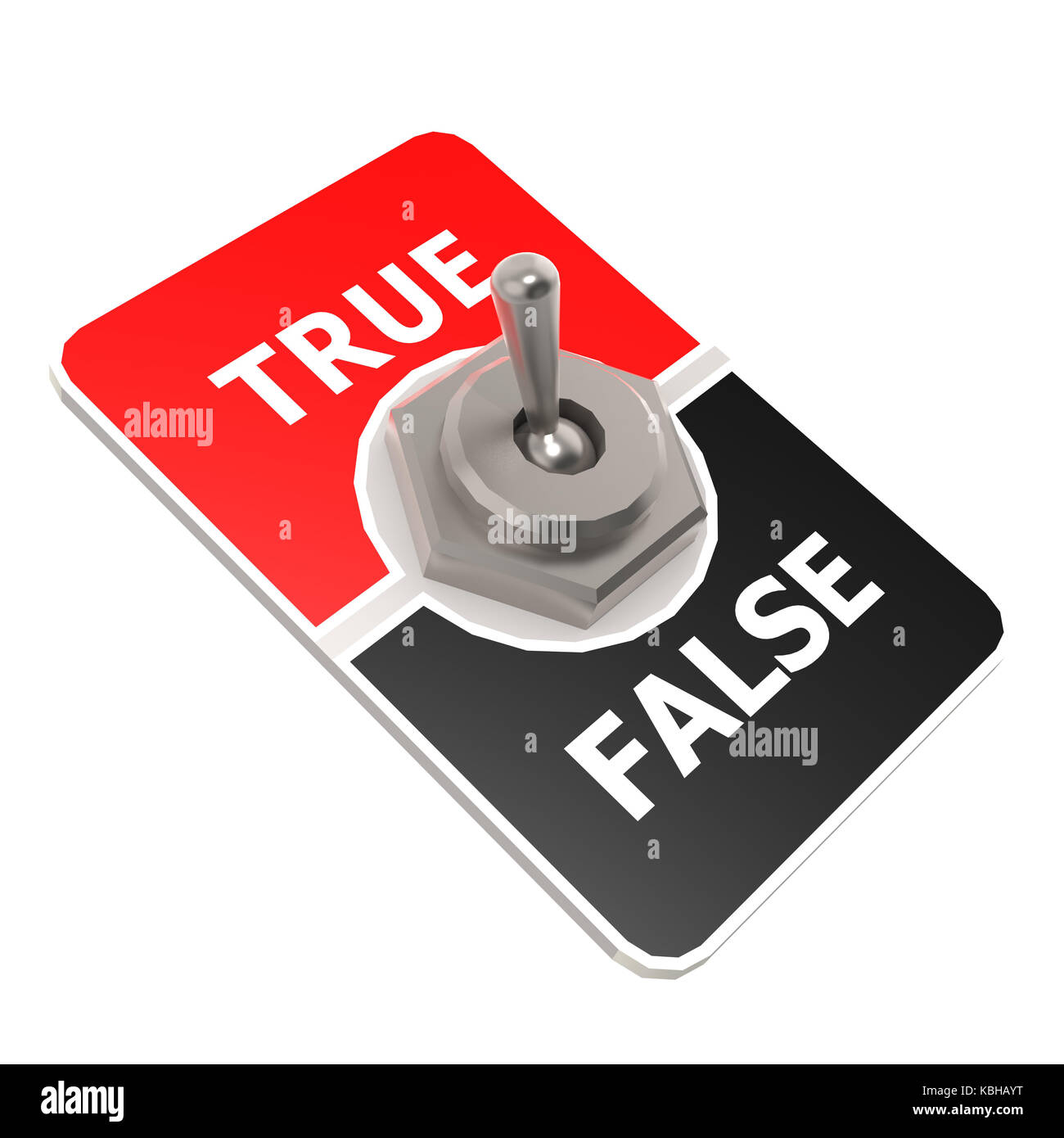 True toggle switch image with hi-res rendered artwork that could be used for any graphic design. - Stock Image