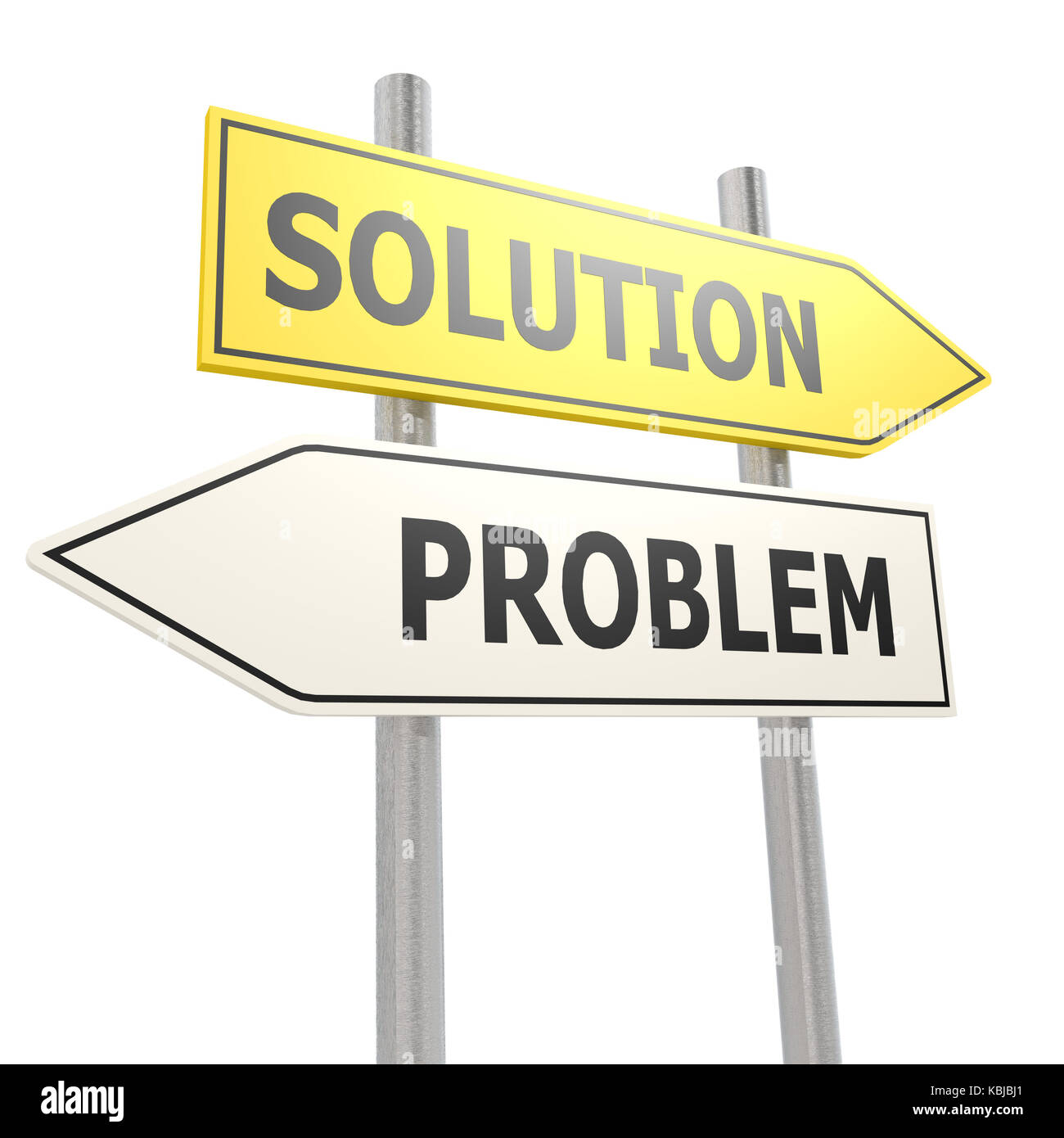 Problem solution road sign - Stock Image
