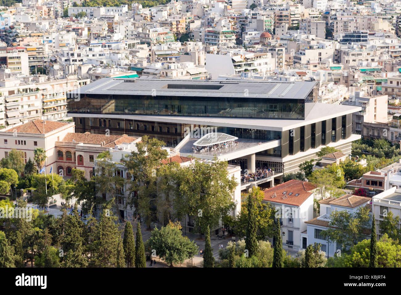 acropolis museum of athens greece - Stock Image