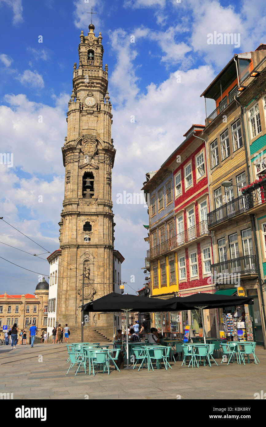Torre dos Clerigos in Porto, Portugal - Stock Image