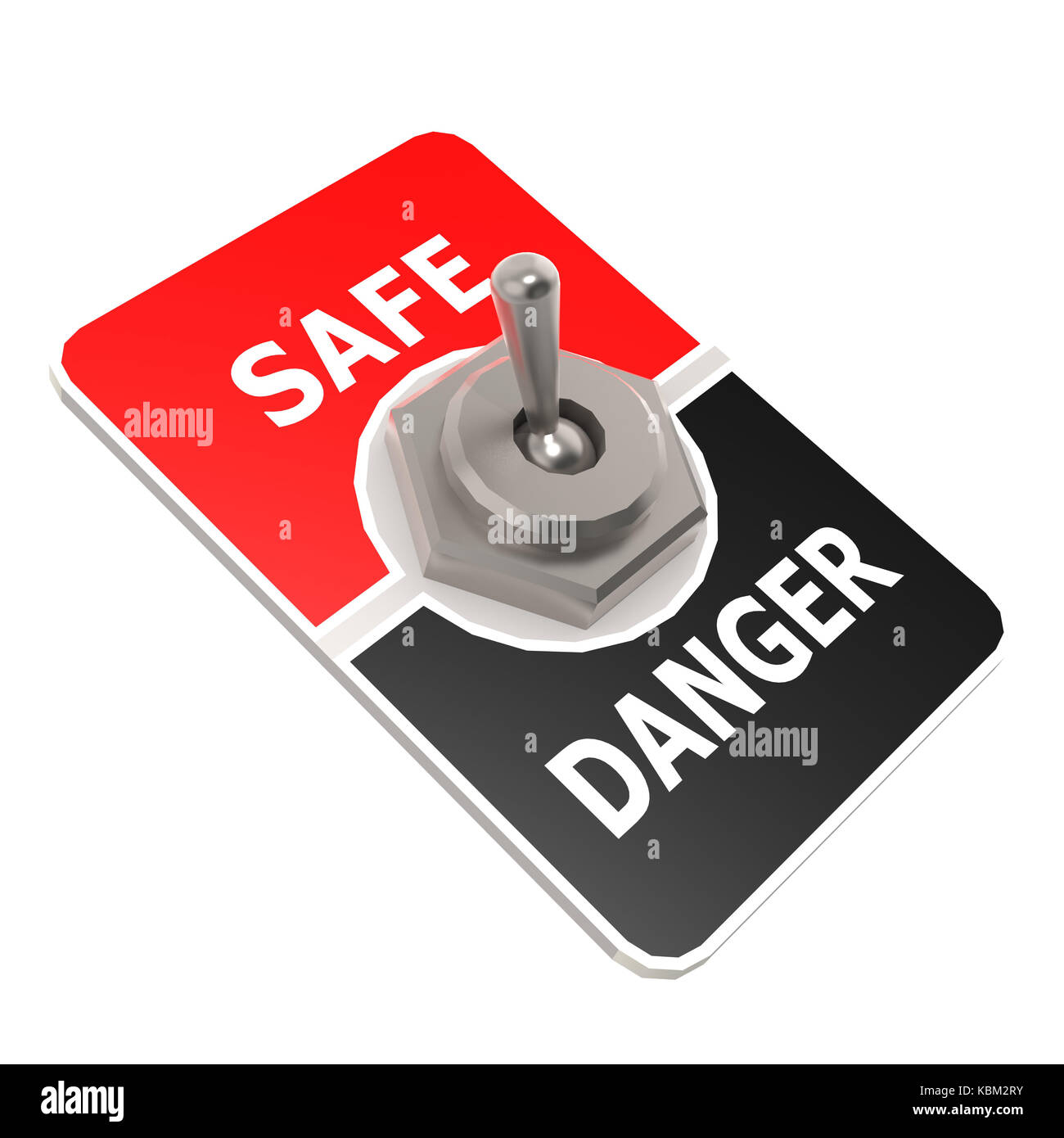 Safe toggle switch image with hi-res rendered artwork that could be used for any graphic design. - Stock Image