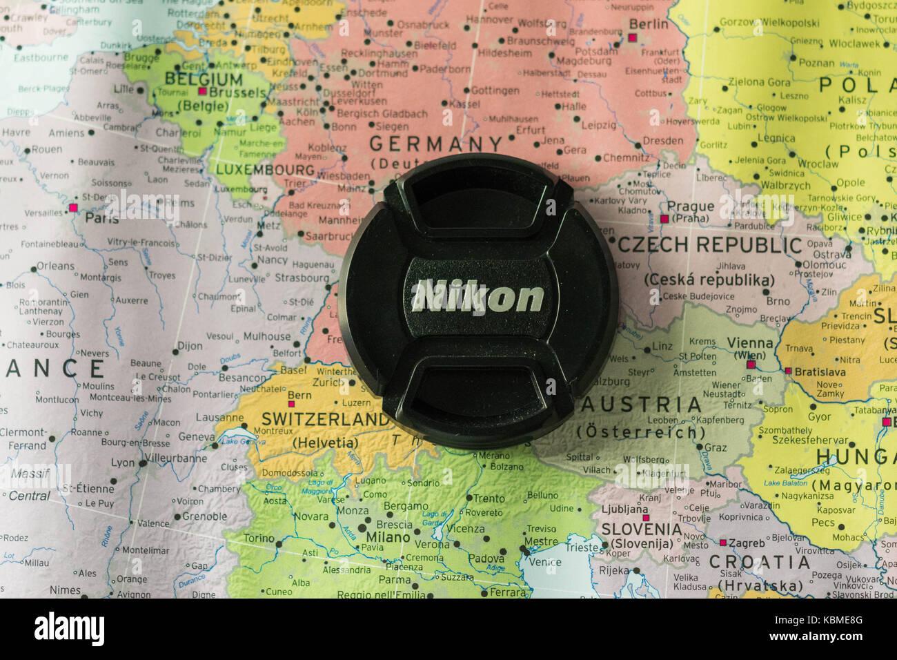 Nikon around Europe - Stock Image