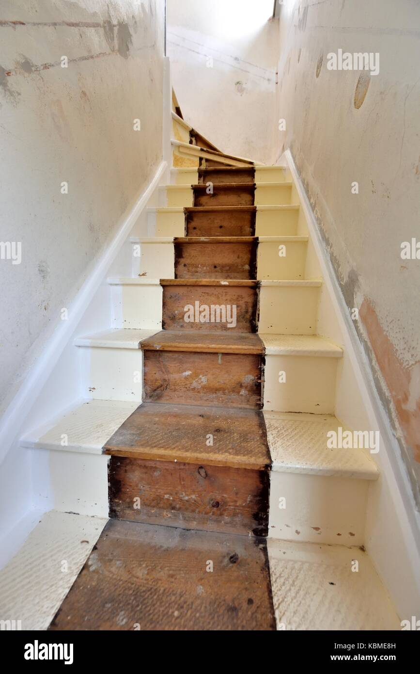 Stair Case Renovation Before Pictures   Stock Image