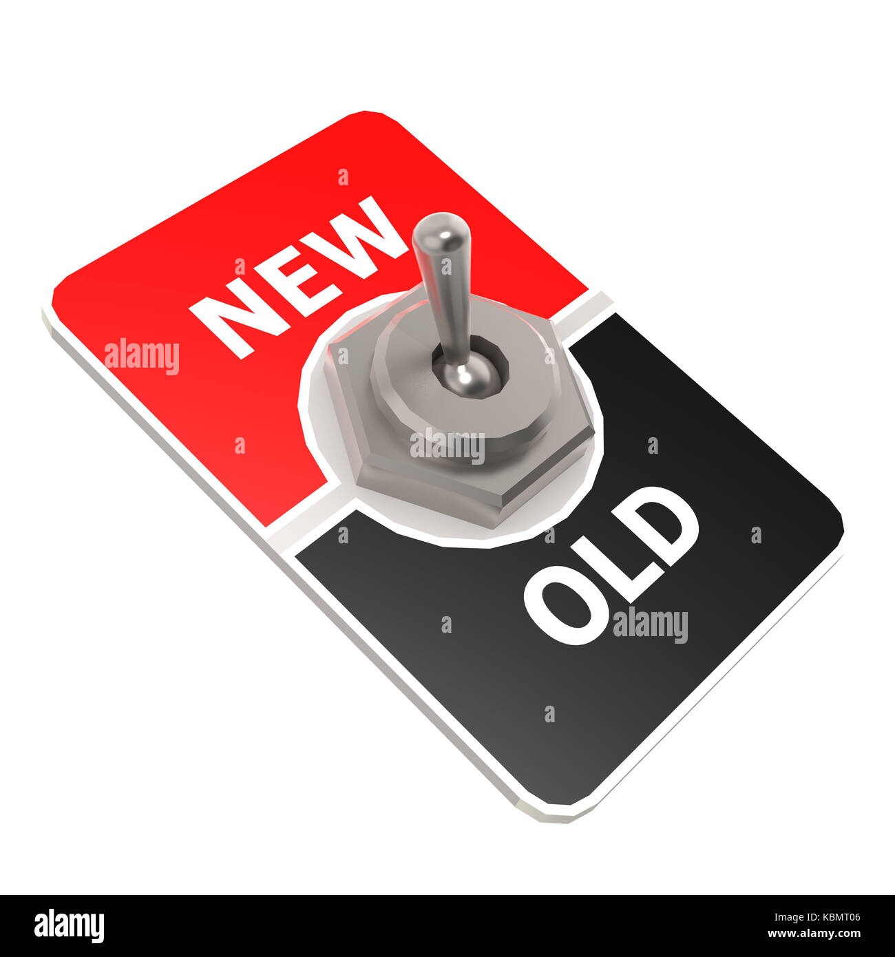 New old toggle switch image with hi-res rendered artwork that could be used for any graphic design. - Stock Image