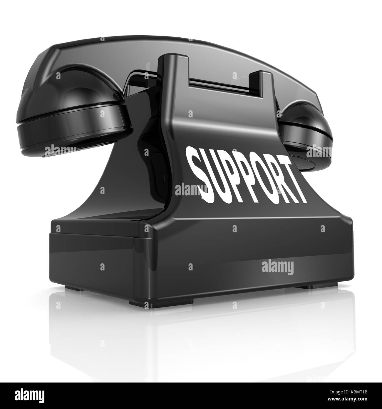Black support phone Stock Photo