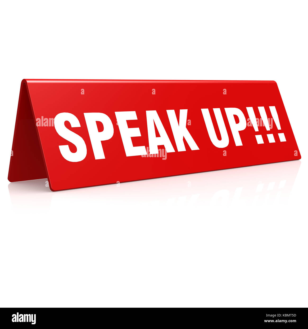 Speak up banner image with hi-res rendered artwork that could be used for any graphic design. - Stock Image