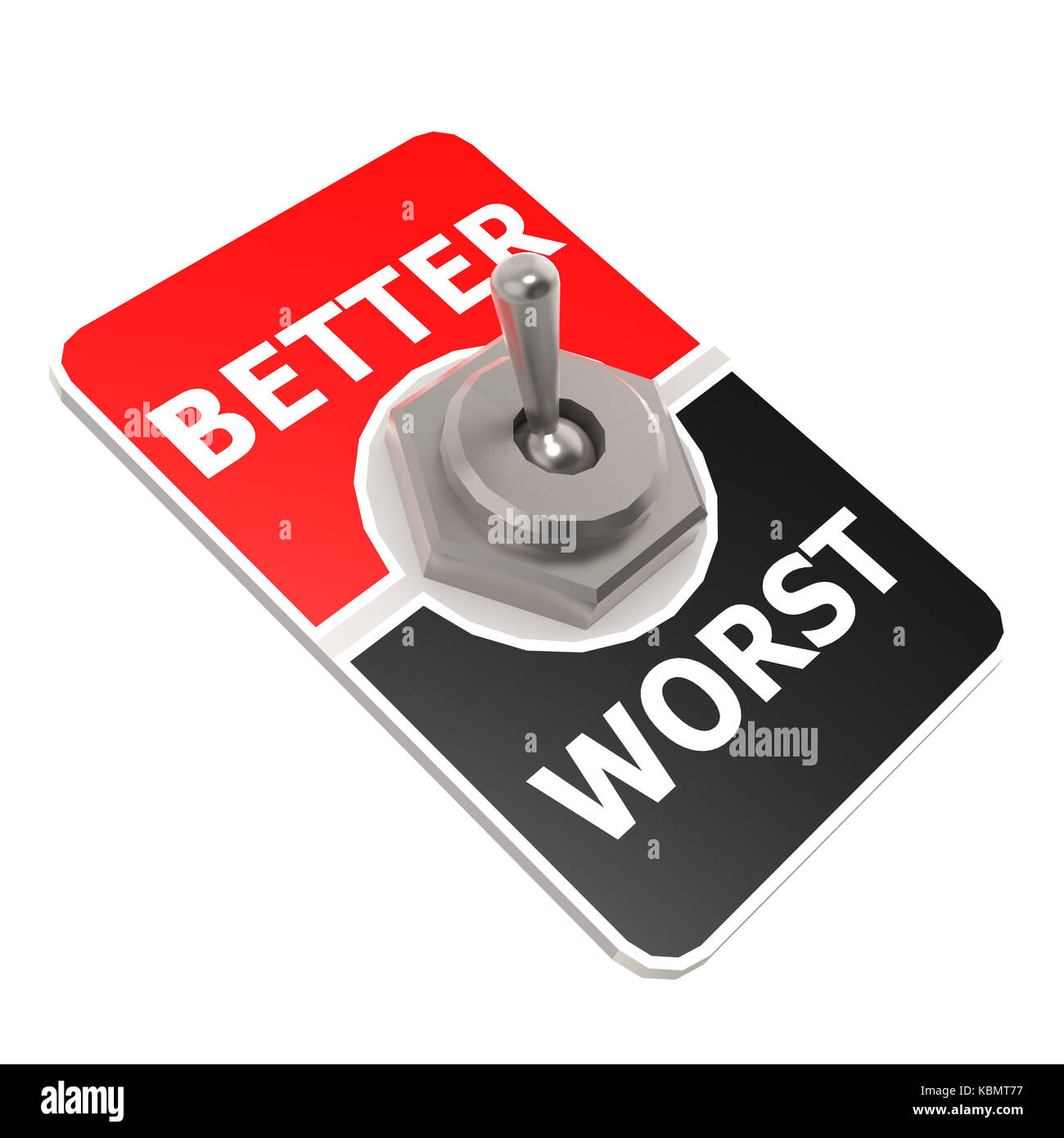Worst better toggle switch image with hi-res rendered artwork that could be used for any graphic design. - Stock Image