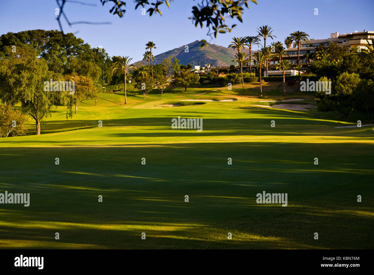 golf courses in Andalucia Stock Photo