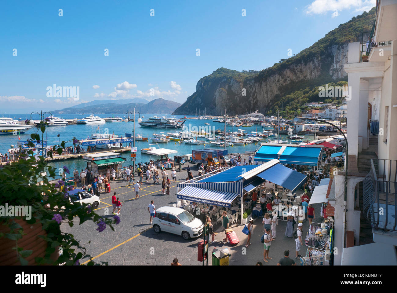 The Harbour at Capri in  Italy. - Stock Image