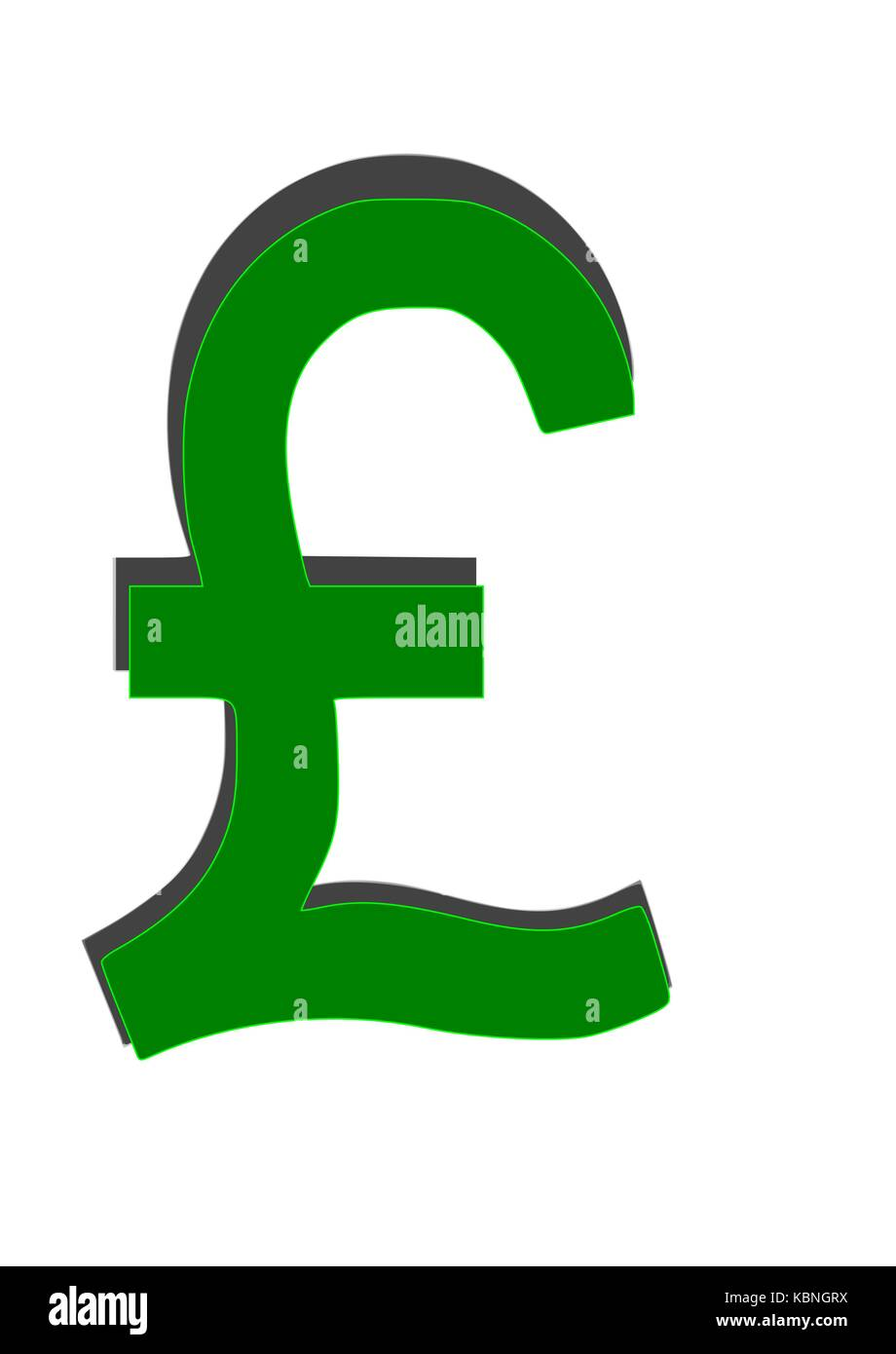 Green pound sign 3d - Stock Vector