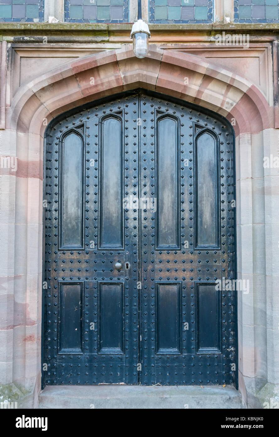 Detail Of Studded Double Door Entrance At Stenton Parish Church, East  Lothian, Scotland,