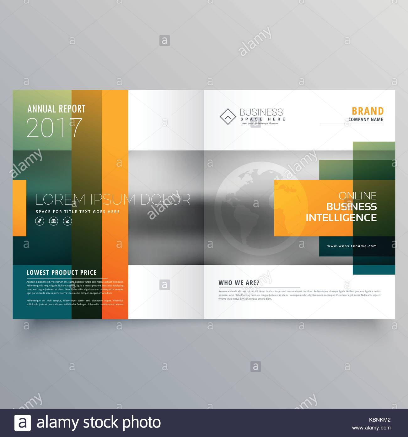 Abstract Creative Bi Fold Brochure Template Or Magazine Cover Page Stock Vector Image Art Alamy