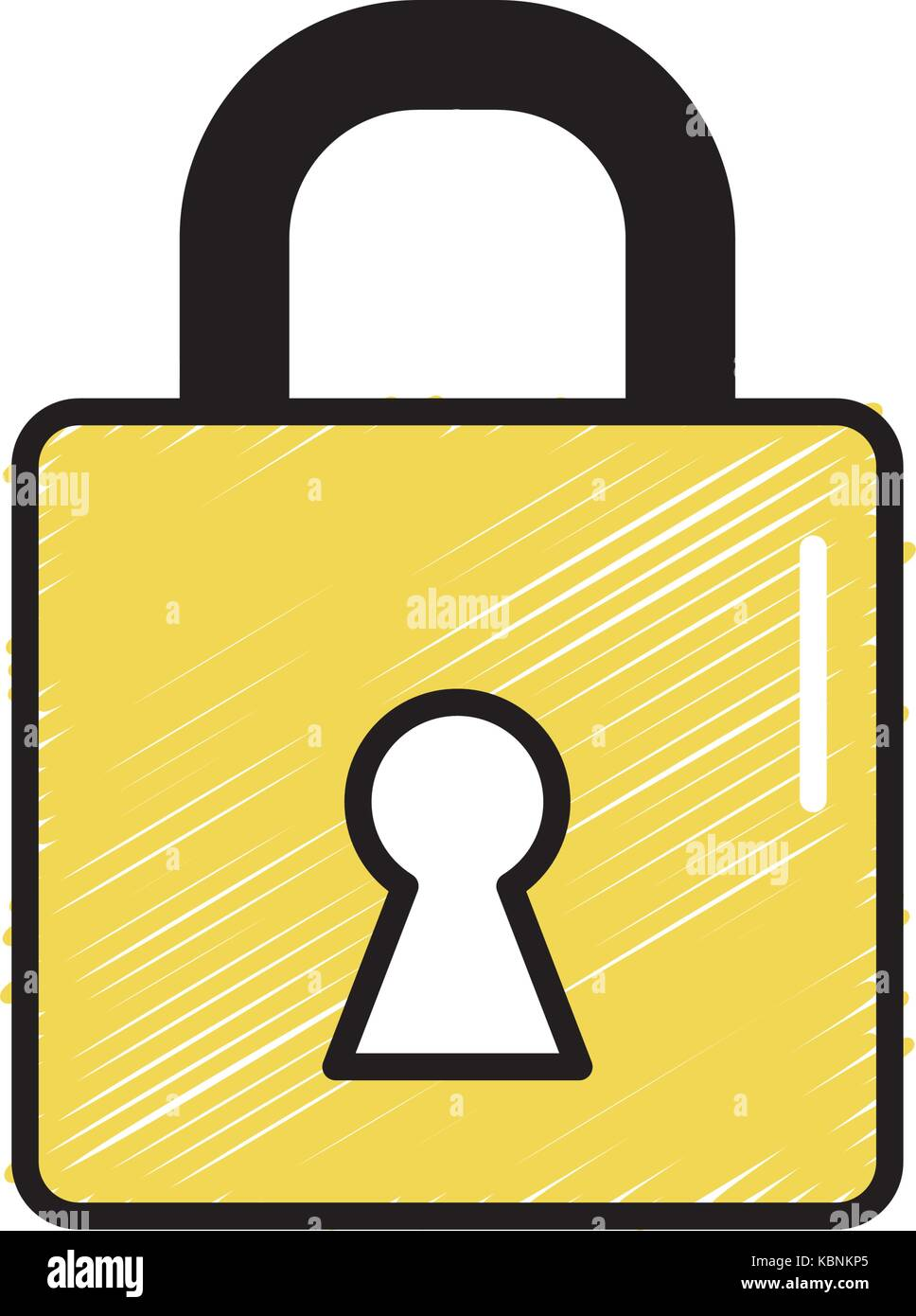 padlock element to security password protection - Stock Image