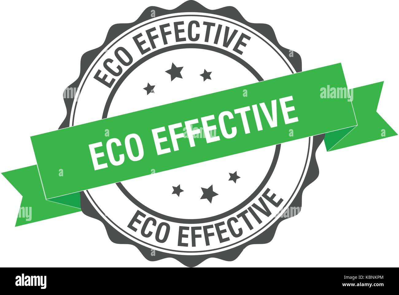 Eco effective stamp illustration - Stock Image