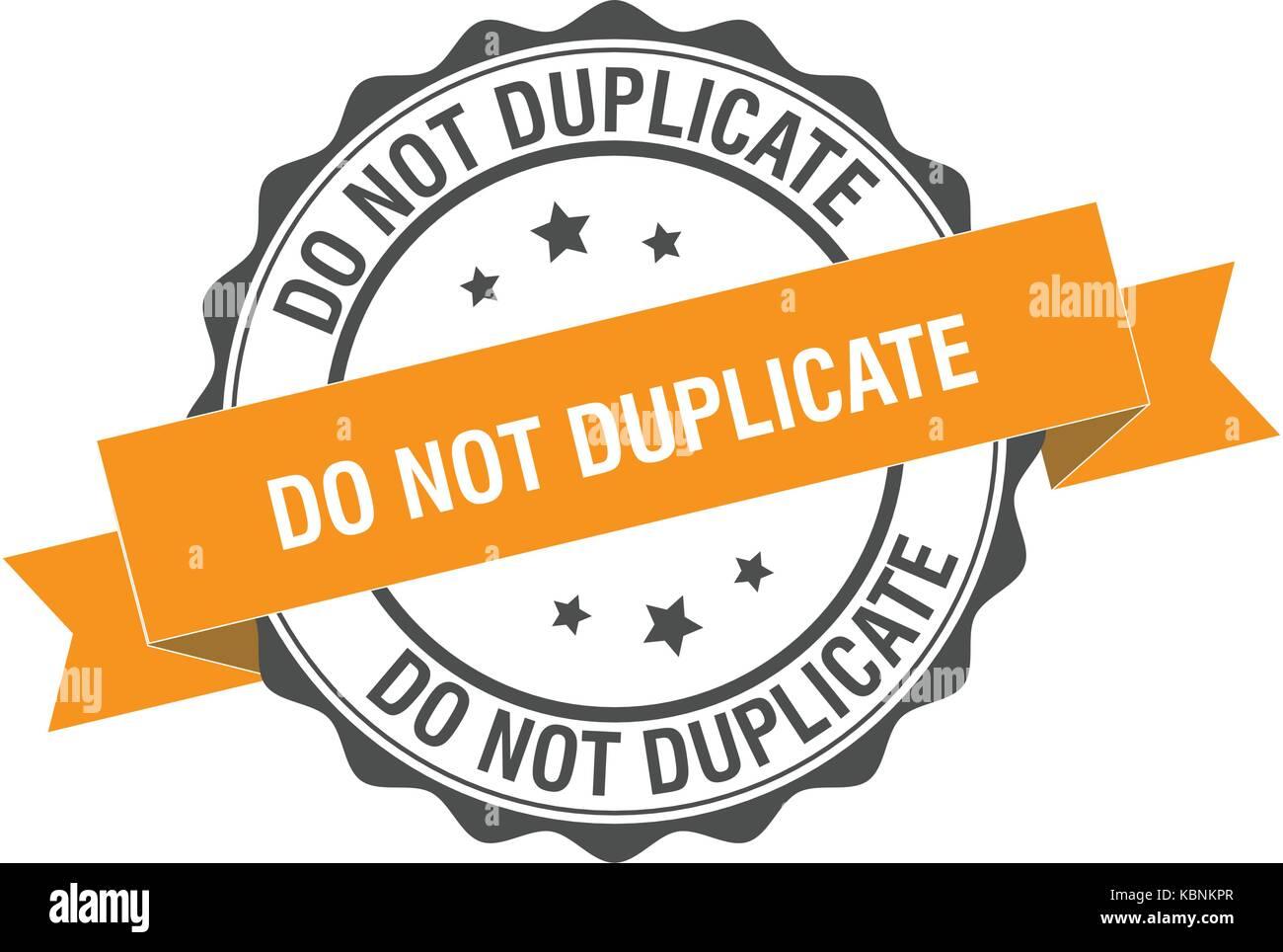 Do not duplicate stamp illustration - Stock Image