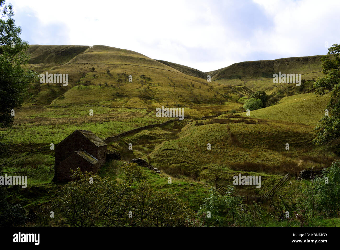 View from the Pennine Way, on the approach to Kinder Scout - Stock Image