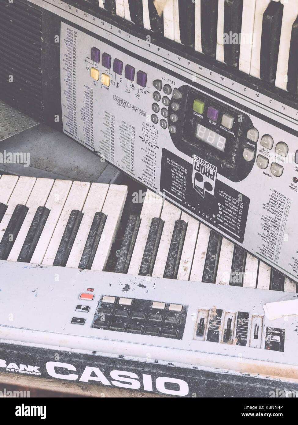 Old Casio keyboard Profi music - Stock Image